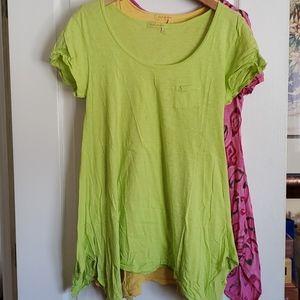 Fresh Produce green drape shirt size medium